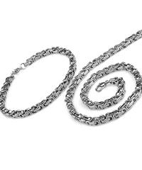 Férfi nyaklánc és karkötő szett OT61